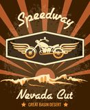 Retro Speedway Nevada Cut Graphic Design Royalty Free Stock Photo