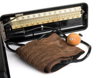 Retro sphygmomanometer Stock Image