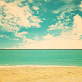 Retro spiaggia Fotografia Stock