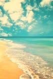 Retro spiaggia Fotografia Stock Libera da Diritti