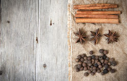 Retro spices background Royalty Free Stock Photos