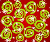 Retro Spiral Snowflake Patter Stock Photo