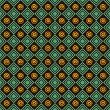 Retro spiral and square pattern background Stock Photos