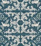Retro spiral vågduva för sliten ut antik sömlös bakgrund stock illustrationer