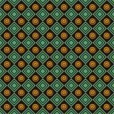 Retro- Spiralen- und Quadratmusterhintergrund Stockfotos