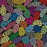 Retro spirali del misshape e di immaginazione Immagine Stock
