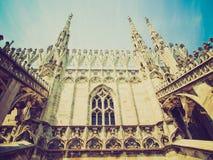 Retro spojrzenia Duomo, Mediolan Fotografia Stock