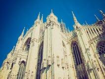 Retro spojrzenia Duomo, Mediolan Zdjęcie Stock