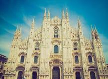 Retro spojrzenia Duomo, Mediolan Obraz Royalty Free