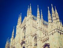Retro spojrzenia Duomo, Mediolan Obraz Stock