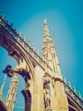 Retro spojrzenia Duomo, Mediolan Obrazy Stock