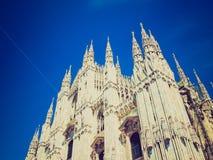 Retro spojrzenia Duomo, Mediolan Zdjęcia Royalty Free