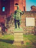 Retro spojrzenia Julius Caesar statua Fotografia Royalty Free