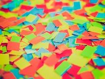 Retro spojrzenie confetti Fotografia Stock