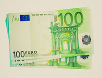 Retro spojrzenie euro obrazek Zdjęcia Royalty Free