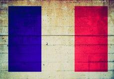 Retro spojrzenie francuza flaga fotografia royalty free