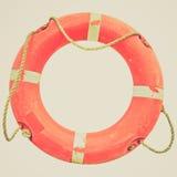 Retro spojrzenie Lifebuoy obraz royalty free