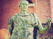 Retro spojrzenie rzymianina statua Obrazy Stock