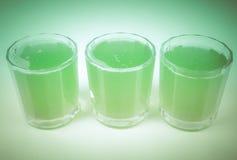 Retro spojrzenie zieleni jabłczany sok Zdjęcia Royalty Free