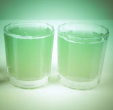 Retro spojrzenie zieleni jabłczany sok Obraz Stock