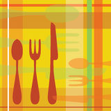 Retro Spoon Fork Knife background Royalty Free Stock Photo