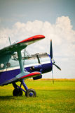Retro sport airplane Stock Photo