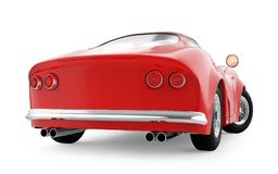 Retro Sport Car Cartoon 3d Pink Front Stock Illustration