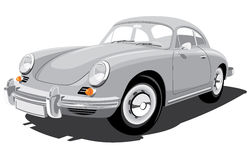 Retro sport car Porsche 356B Royalty Free Stock Photos