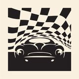 Retro sport car. Vector poster Stock Images