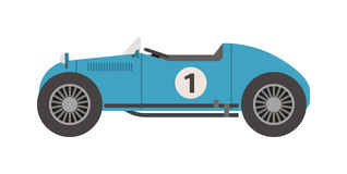 Retro sport car vector. Royalty Free Stock Photography