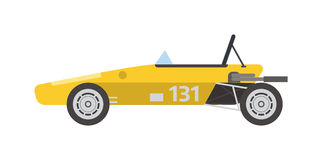 Retro sport car vector. Royalty Free Stock Images
