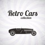 Retro sport racing car, vintage collection Stock Photo