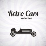 Retro sport racing car, vintage collection Royalty Free Stock Image
