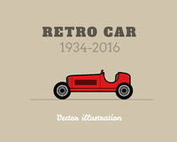 Retro sport racing car, vintage collection Stock Images