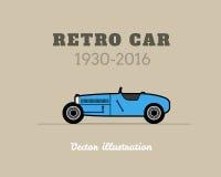Retro sport racing car, vintage collection Stock Photo