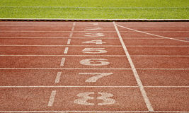 Retro sport running track Royalty Free Stock Images