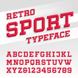 Retro sport style typeface Royalty Free Stock Photography