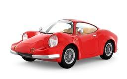 Retro sportowy samochód kreskówka 3d Obrazy Stock