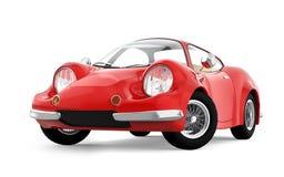 Retro sportowy samochód kreskówka 3d Fotografia Royalty Free