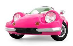 Retro sportowy samochód kreskówki 3d menchie Zdjęcie Royalty Free
