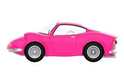 Retro sportowy samochód kreskówki 3d menchii strona Fotografia Royalty Free