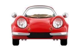 Retro sportowy samochód kreskówki 3d przód Zdjęcia Royalty Free