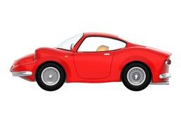 Retro sportowy samochód kreskówki 3d strona Obraz Royalty Free