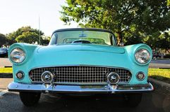 Retro sports car, front of Thunderbird Royalty Free Stock Photo