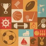 Retro Sports Icons. Vector Illustration Stock Photos