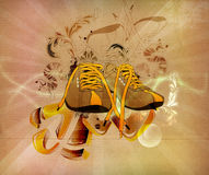 Retro sports shoes Stock Images