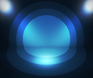 Retro Spotlight Blue Background Royalty Free Stock Images