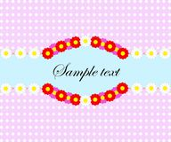 Retro spring background with flower pattern, empty space for text. royalty free stock photo