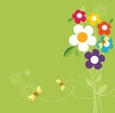 Retro Spring Design Stock Images