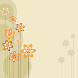 Retro spring design. Illustration of a retro spring backfround for your design.EPS file available Royalty Free Stock Images